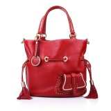 Lancel Premier Flirt Bucket Bag Red